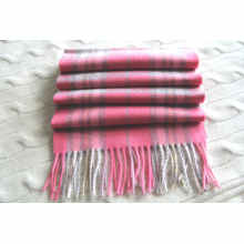 Unisex 100% Cashmere Woolen Check Schal
