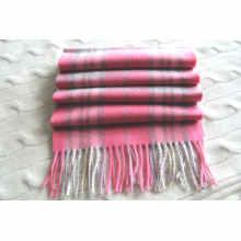 Bufanda de lana de cachemira con cheques