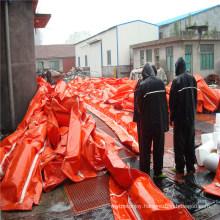 PVC Beach Trash Barrier Factory, Rubber Seaweed Fence Boom, PVC Boom for Sargassum