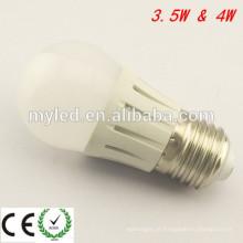 Lâmpada LED de baixa decaimento G45 de Ningbo 4w Lâmpada de diodo emissor de luz LED E27 Dimmable