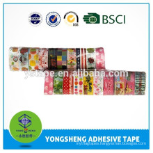 Cartoon self stationery adhesive tape with different patterns