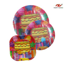 9 Inch Disposable Birthday Paper Plates