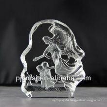 2015 hot sale Crystal angel,angel figurines for gifts or home decoration 3d crystal figurines