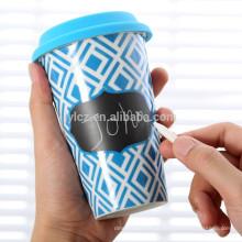 tampa de silicone de caneca de cerâmica de parede dupla