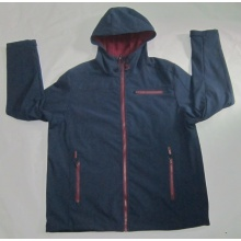 Yj-1071 Hommes Bleu Polaire Fleece Hooded Softshell Veste Vêtements pour hommes