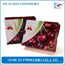 Caja de regalo de empaquetado de papel corrugado de cereza SenCai