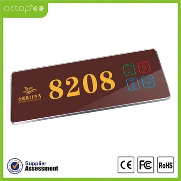 Touch Screen Hotel Doorplate Producenci Shenzhen