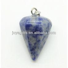 Pendentif en pierres précieuses en forme de cône Side Sodalite 6