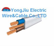 Электрический провод с двухжильным проводником и заземлением
