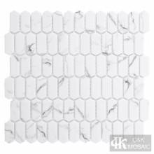 Mini Picket White Glass Mosaic Fliesen Backsplash