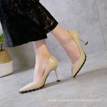 Fine with pointed high heels shoes women lady 2017 arrivals