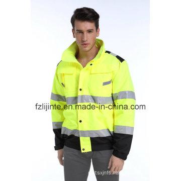 Winter Reflective Workwear High Visibility Safety Jacket