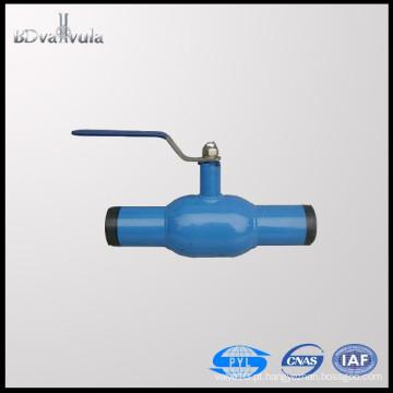 Material da válvula de esfera do aço de carbono e completamente do manual DN15-300 da válvula de esfera da soldadura