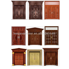 Porte extérieure en acier de luxe de haute qualité