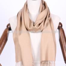 100% bufanda de pashmina fina de cachemira en color sólido para el otoño y el invierno