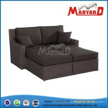 Mobília exterior secional de vime do sofá do PE
