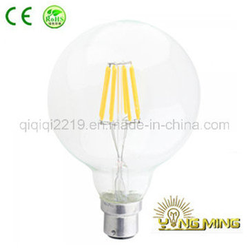 RoHS CE G125 5W B22 Regulable Clear LED Filament Lamp