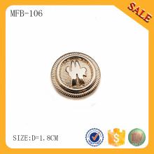 MFB106 Kundengebundenes Gold entfernen Metallknopf-Jeansgroßhändler