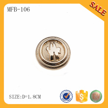 MFB106 Venta al por mayor del oro modificado para requisitos particulares del oro del botón de los pantalones vaqueros