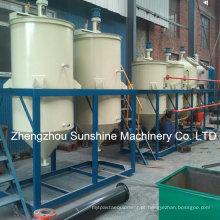 Refinaria de óleo bruta da soja do refinamento de óleo da soja de 2t / D mini