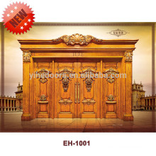 Up-to-the-minute luxury solid wood door main door wood carving door design