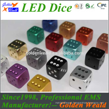 cheap White Square/round Acrylic Custom 6 Sides Dice for board game