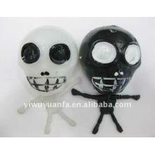 Novo desenho de brinquedo de crânio espremendo bola