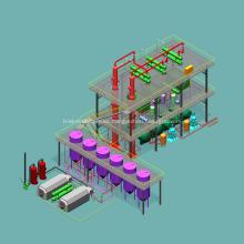 Equipo automático de la planta de refinería de petróleo crudo