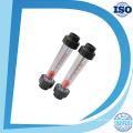 Tipo acrílico do tubo de Lzs Rotâmetro de medidor de fluxo da haste de guia de Ss316L