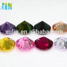 redondo brillante corte colorido zirconia cúbico cz piedra