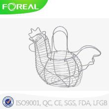 Suporte de ovo de fio de metal cromado único