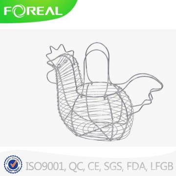 Unique Chromed Metal Wire Egg Holder