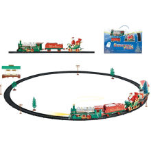 Lighting DIY Santa Train Xmas Gifts Blocks Chrsimas Toy