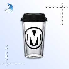 Customized printed logo utility disposable plastic cup with lid