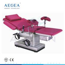 AG-C102C Gynäkologischer OP-Tisch aus Edelstahl mit vier geräuschlosen Rollen