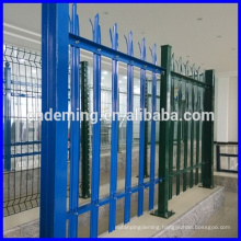 "Fashion Design PVC coated colourful ""W"" ""D"" Section triple spiked galvanized steel decorative palisade fencing"
