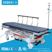 SKB041-3 Hospital Patient Luxury Hydraulic Electrostatic Spray Steel Transportation Trolley