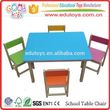 Silla de mesa de madera sólida de madera sólida, venta de la fábrica Silla de tabla de jardín de infancia barata