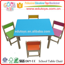 China Solid Wood Preschool Table Chair, Factory Sale Cheap Kindergarten Table Chair