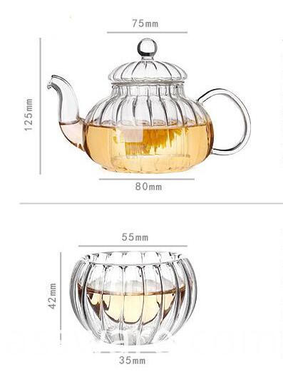 50ml pumkin glass tea cup