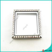 Silber Quadrat Medaillon ohne Schleife Schmuck (FL16041944)