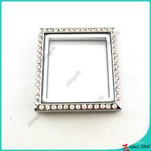 Silver Square Locket Without Loop Jewelry (FL16041944)