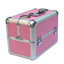 Profesional de aluminio duro caso cosmético, caja de aluminio con diferentes colores para la venta (KeLi-c1076)