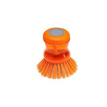 Escova de limpeza plástica da bandeja da bacia da cozinha da casa / do prato do potenciômetro com líquido de limpeza