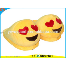 Novelty Design Worship Expression Plush Emoji Slipper