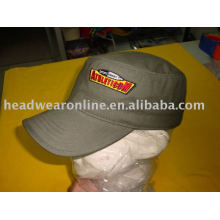 promotional military caps with falt/3D embroidery
