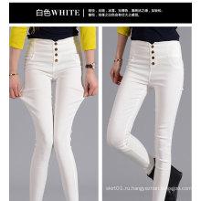 OEM плюс размер 2015 Высокая талия Fit Slim Женщины джинсы