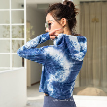 Tie-Dyeing Printed Long Sleeve Loose hoodies