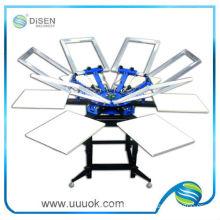 6 color double wheel round screen printer