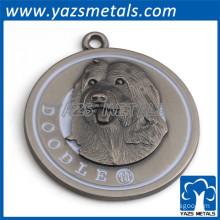Custom alloy dog pendent